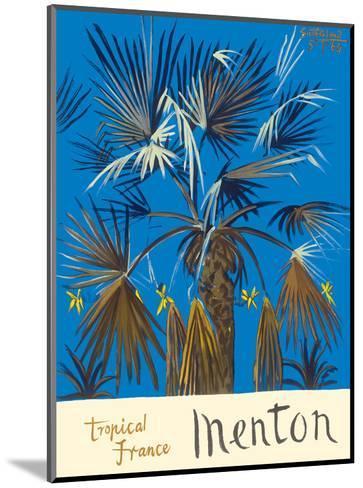 Menton - Tropical France - Palm Tree-Graham Sutherland-Mounted Art Print