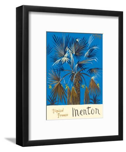 Menton - Tropical France - Palm Tree-Graham Sutherland-Framed Art Print