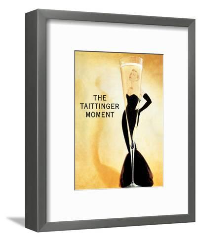 The Taittinger Moment - Champagne Advertisement featuring actress Grace Kelly-Claude Taittinger-Framed Art Print