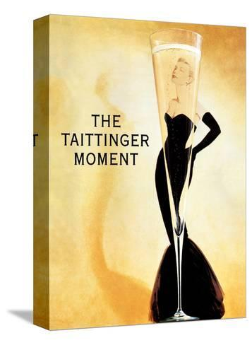 The Taittinger Moment - Champagne Advertisement featuring actress Grace Kelly-Claude Taittinger-Stretched Canvas Print