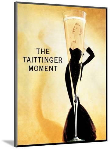 The Taittinger Moment - Champagne Advertisement featuring actress Grace Kelly-Claude Taittinger-Mounted Art Print