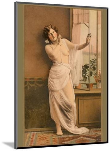 Classic Vintage Hand-Colored Nude Art - Beautiful Belle ?poque Erotica-Studio IPA CT Italy-Mounted Art Print