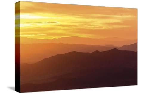 Sunrise from Wheeler Park-Don Paulson-Stretched Canvas Print