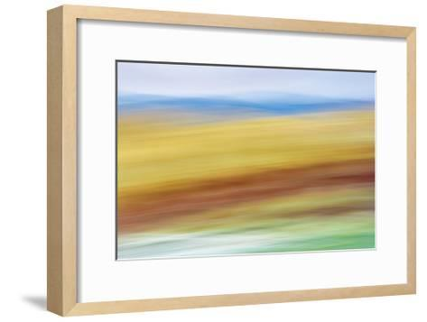Painted Hills in Motion 4-Don Paulson-Framed Art Print