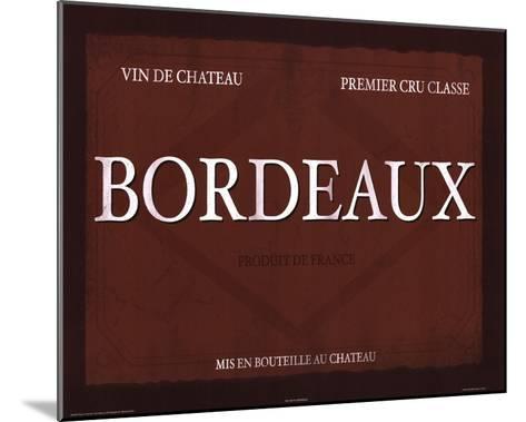 Bordeaux-Paulo Viveiros-Mounted Art Print