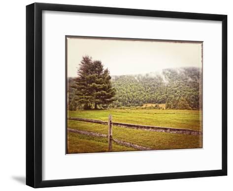 Morning Mountain Smoke Vintage-Suzanne Foschino-Framed Art Print