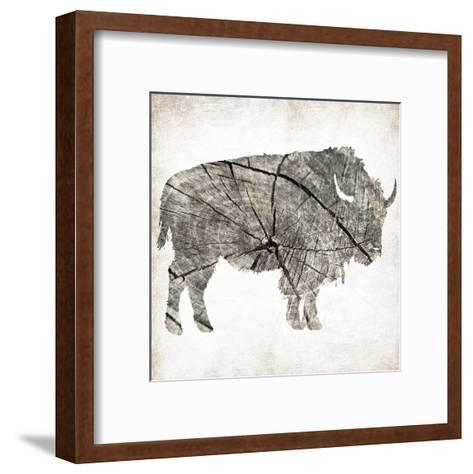 Buffalo Rings Mineral-Jace Grey-Framed Art Print