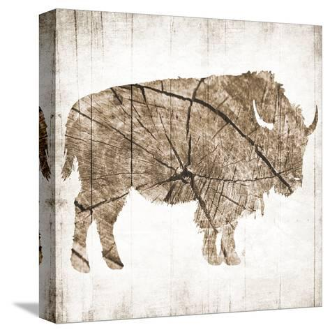 Buffalo Rings-Jace Grey-Stretched Canvas Print
