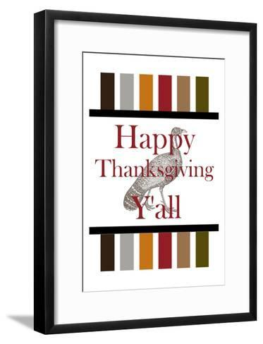 Happy Thanksgiving Y'all-Sheldon Lewis-Framed Art Print