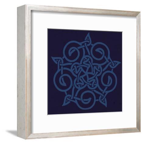 Deep Blue Kolidescope-Melody Hogan-Framed Art Print