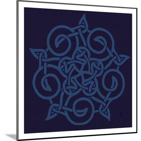 Deep Blue Kolidescope-Melody Hogan-Mounted Art Print