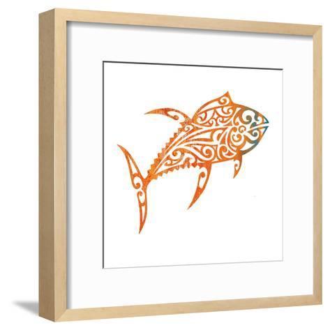Tribal Koi 2-Melody Hogan-Framed Art Print