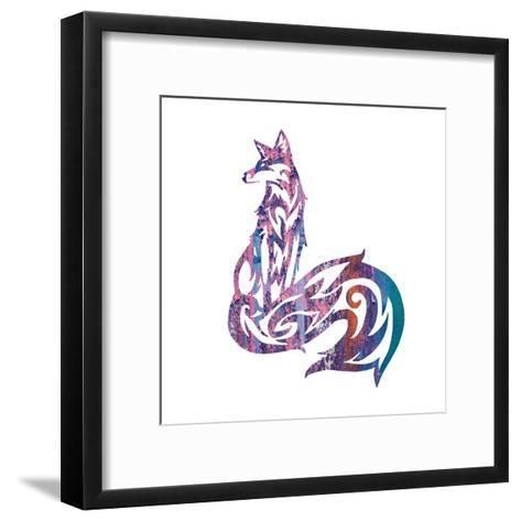 Tribal Fox 1-Melody Hogan-Framed Art Print