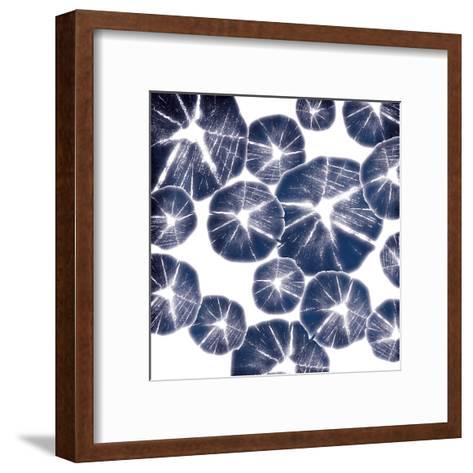 Blue Wood Pile-Jace Grey-Framed Art Print
