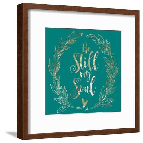 Soul Be Still 1-Melody Hogan-Framed Art Print