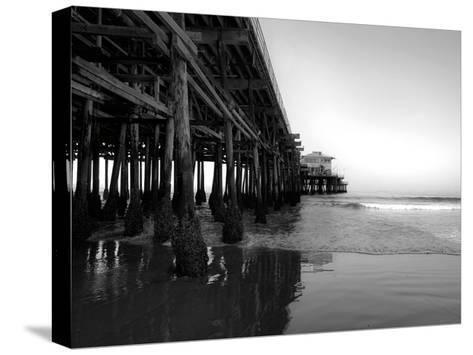 Californian Pier-Tracey Telik-Stretched Canvas Print
