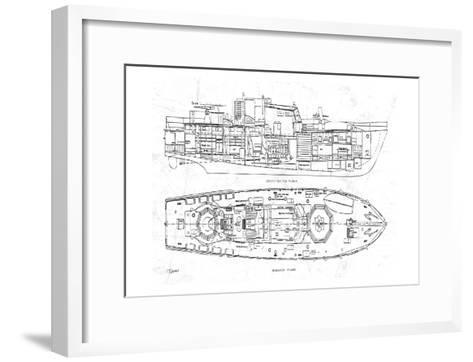 Boat blueprint 1 art print by carole stevens the new art boat blueprint 1 carole stevens framed art print malvernweather Gallery