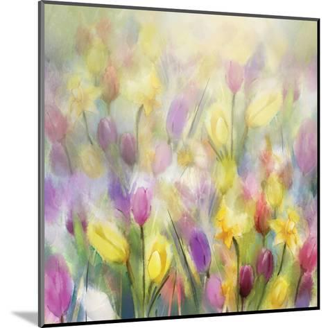 Daffodils and Tulips-N^ Pommingmas-Mounted Art Print