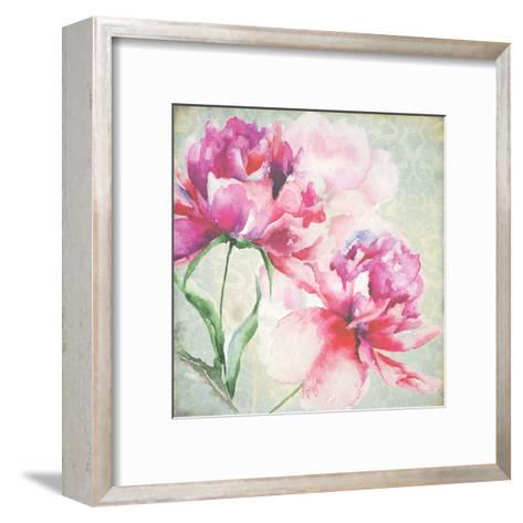 Lovely Peony Blossoms-R^ Jersova-Framed Art Print