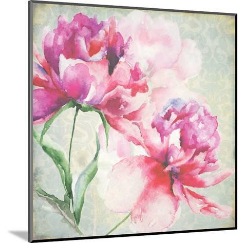 Lovely Peony Blossoms-R^ Jersova-Mounted Art Print