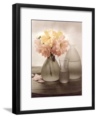 Frosted Glass Vases III-Sondra Wampler-Framed Art Print