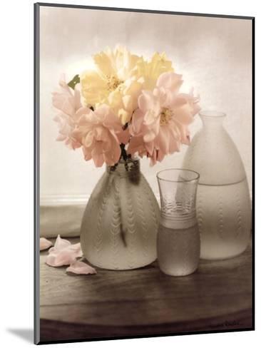 Frosted Glass Vases III-Sondra Wampler-Mounted Art Print