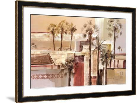 Palm Icon II-David Harris-Framed Art Print