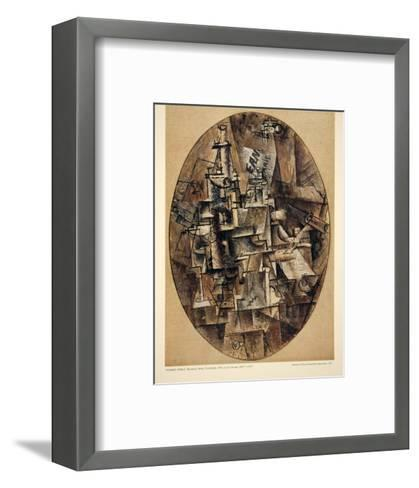 Bottle, Glass, Fork-Pablo Picasso-Framed Art Print