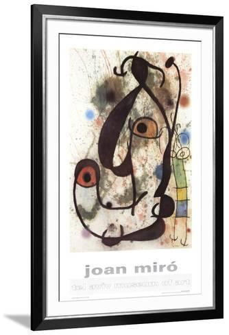 Man and Woman-Joan Miro-Framed Art Print