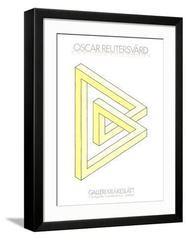 Omojligafigurer (yellow)-Oscar Reutersvard-Framed Art Print