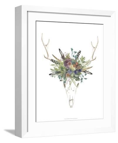 Deer Skull & Flowers II-Naomi McCavitt-Framed Art Print