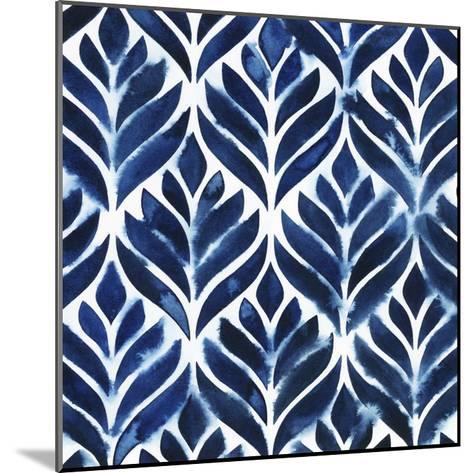 Cobalt Watercolor Tiles IV-Grace Popp-Mounted Art Print