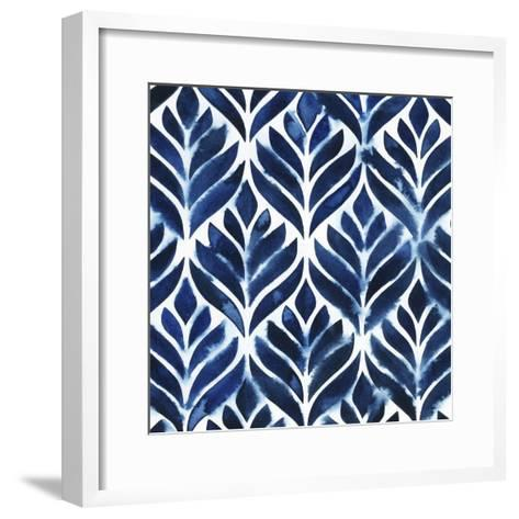Cobalt Watercolor Tiles IV-Grace Popp-Framed Art Print