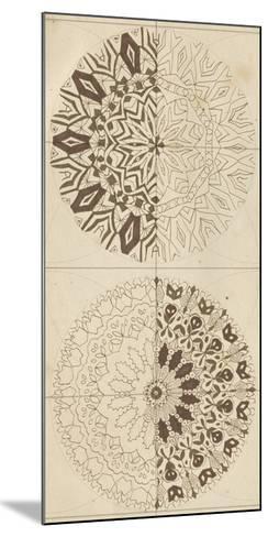 Sacred Geometry Sketch I-Naomi McCavitt-Mounted Giclee Print