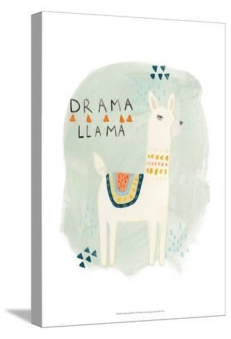 Llama Squad II-June Erica Vess-Stretched Canvas Print