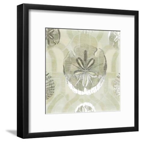 Metallic Shell Tiles II-June Erica Vess-Framed Art Print