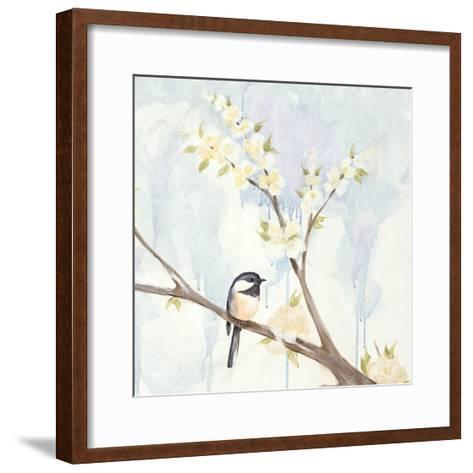 Spring Chickadees II-Jade Reynolds-Framed Art Print
