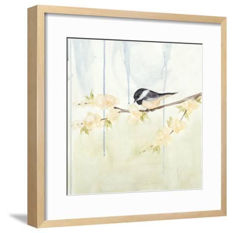 Spring Chickadees III-Jade Reynolds-Framed Art Print