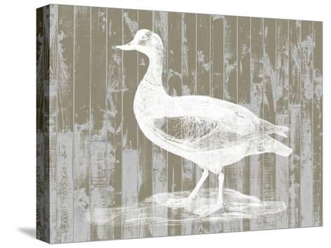 Woodgrain Fowl II-Jennifer Goldberger-Stretched Canvas Print