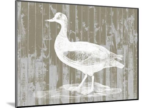 Woodgrain Fowl II-Jennifer Goldberger-Mounted Art Print