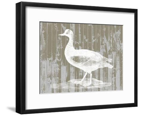 Woodgrain Fowl II-Jennifer Goldberger-Framed Art Print