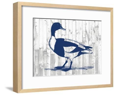Woodgrain Fowl III-Jennifer Goldberger-Framed Art Print