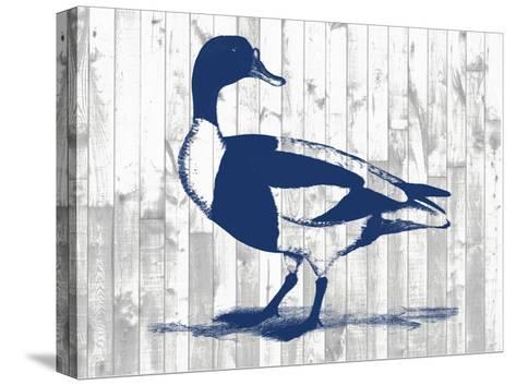 Woodgrain Fowl III-Jennifer Goldberger-Stretched Canvas Print