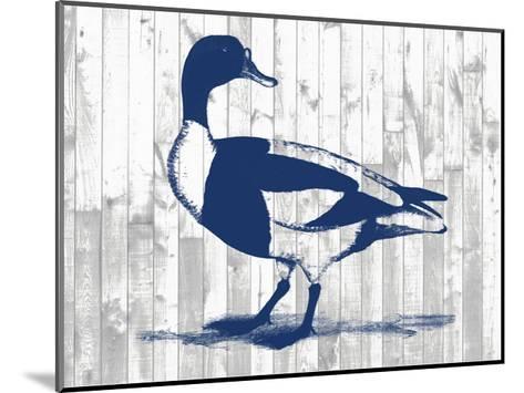 Woodgrain Fowl III-Jennifer Goldberger-Mounted Art Print