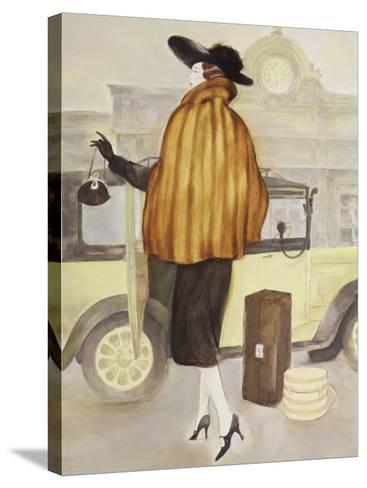 Vintage Lady IV-Graham Reynolds-Stretched Canvas Print
