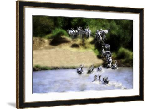 African Plains IX-Golie Miamee-Framed Art Print