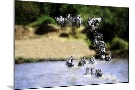 African Plains IX-Golie Miamee-Mounted Art Print