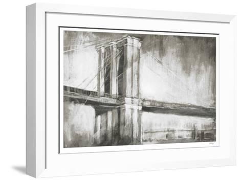 Historic Suspension Bridge II-Ethan Harper-Framed Art Print