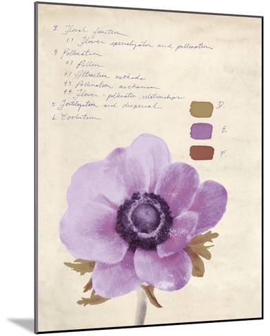 Botanical Wash II-Belle Poesia-Mounted Giclee Print