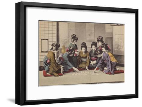 Girls Playing Uta-Garuta- The Kyoto Collection-Framed Art Print